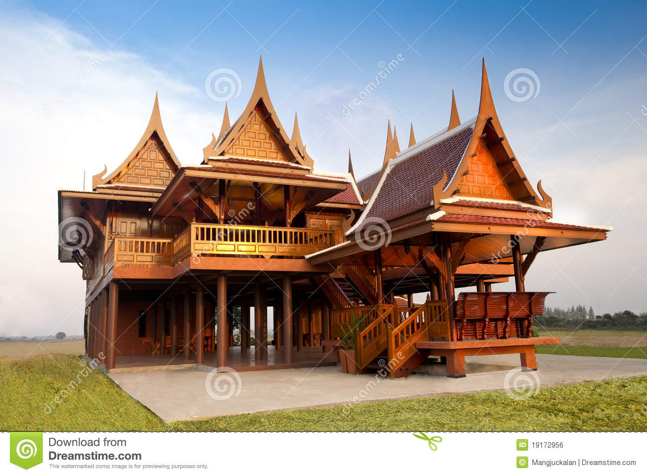 Thai Style House Royalty Free Stock Image Image 19172956