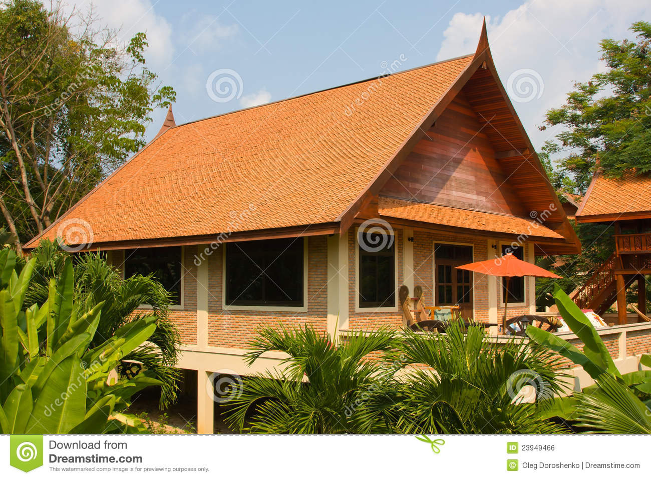 Thai style houses stock photo image of lifestyle nobody for Thailand houses pictures