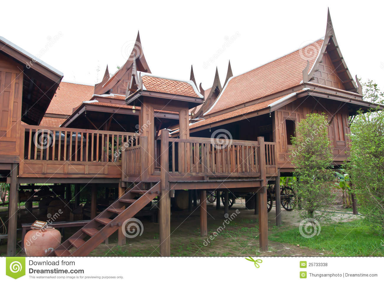 Thai style huose stock photo image of design rustic for Thai style home designs