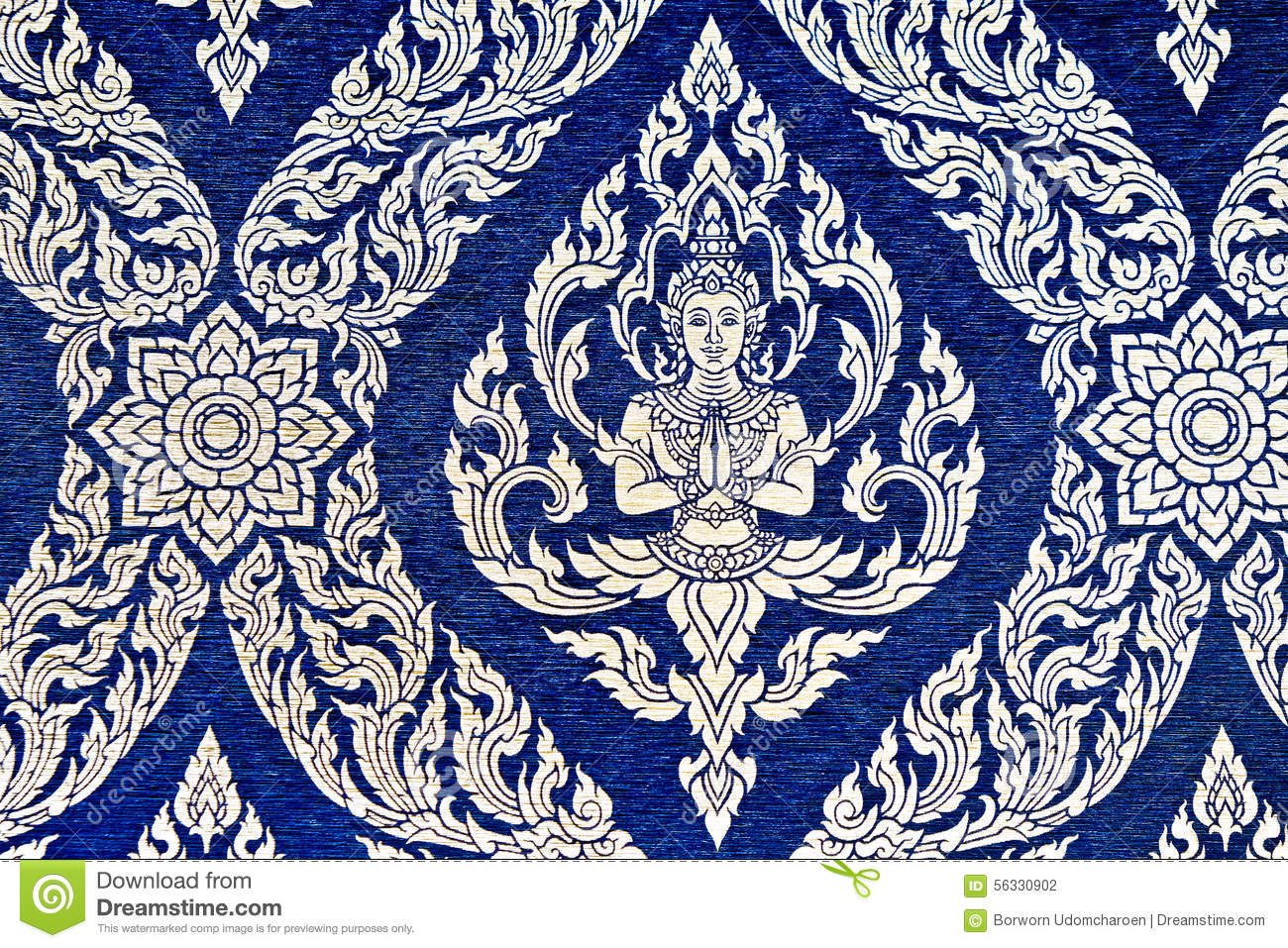 Thai Style Pattern Wallpaper Stock Photo Image Of Asian