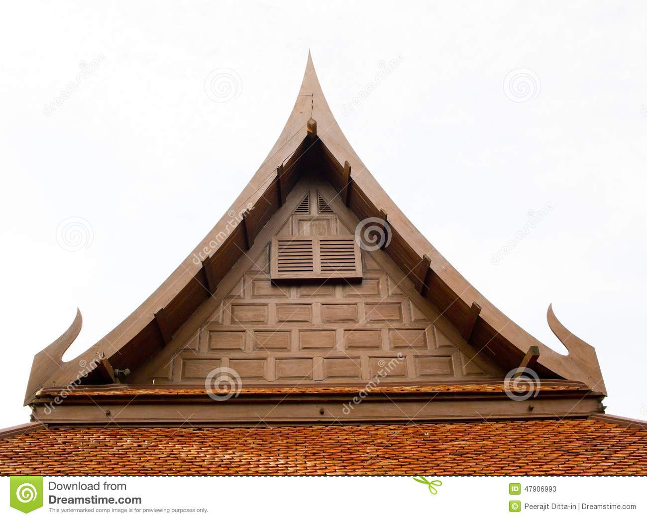 Thai Style Roof For House Stock Photo Image 47906993