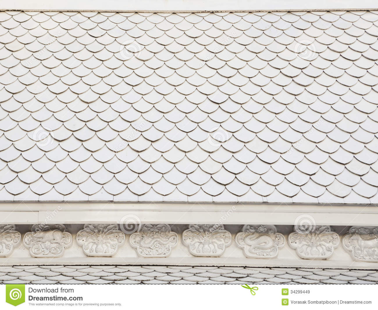Thai Style Of Roof Tiles Royalty Free Stock Images Image