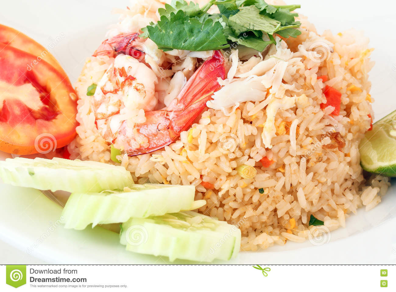 Thai Style Seafood Fried Rice Stock Photo - Image: 74044731
