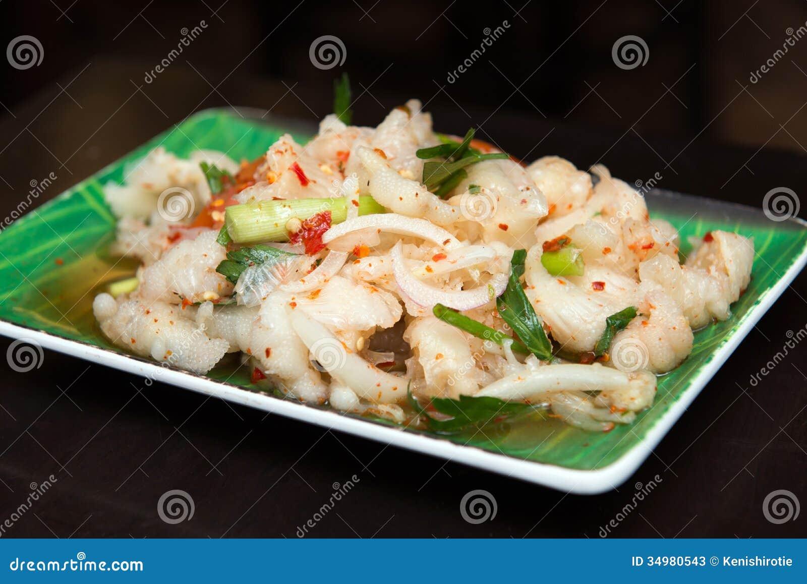 Thai Style Spicy Chicken Feet Salad Stock Photos - Image: 34980543