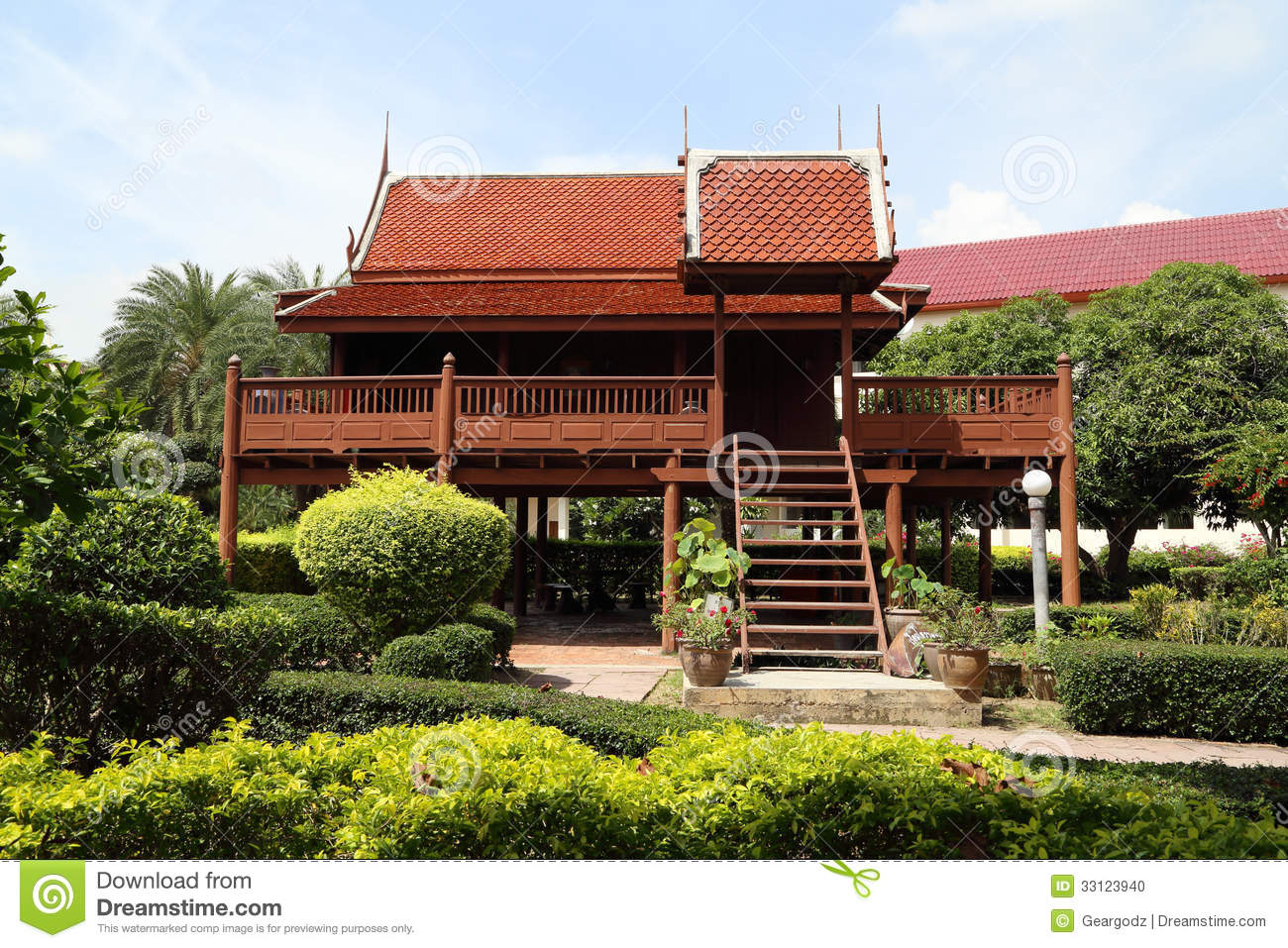 Thai style wooden house stock photo image of asia canopy for Thai classic house