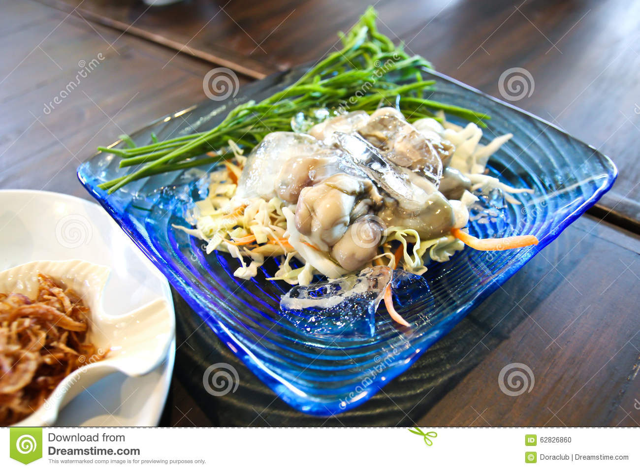 Thai traditional food fresh cool oyster