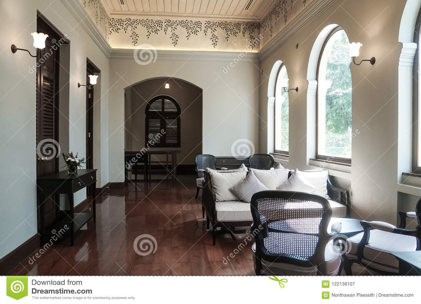 Thai Traditional Interior Design Antique Furniture Colonial ...