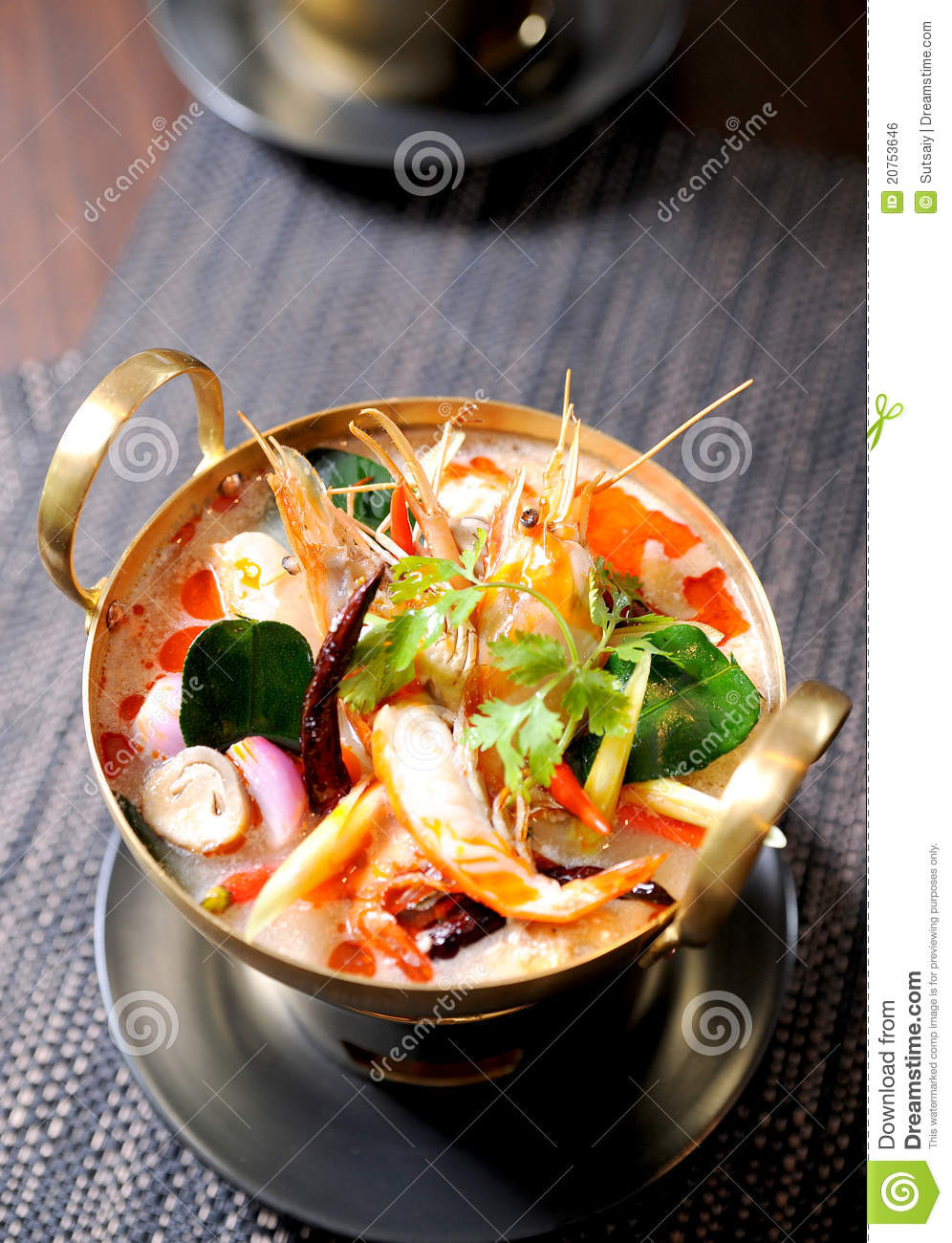 Royalty Free Stock Image: Thai traditional tom yam soup