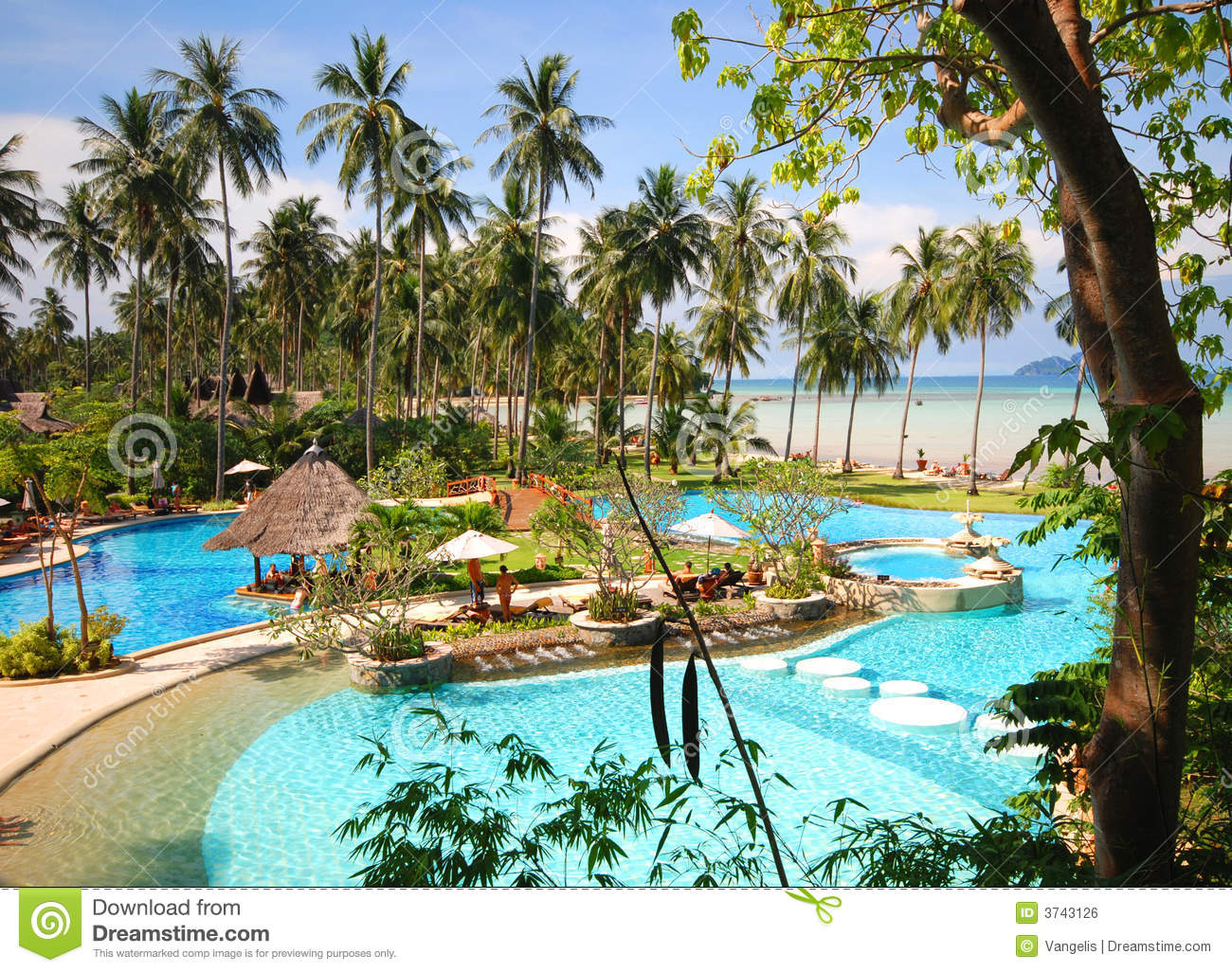 Thai tropical pool