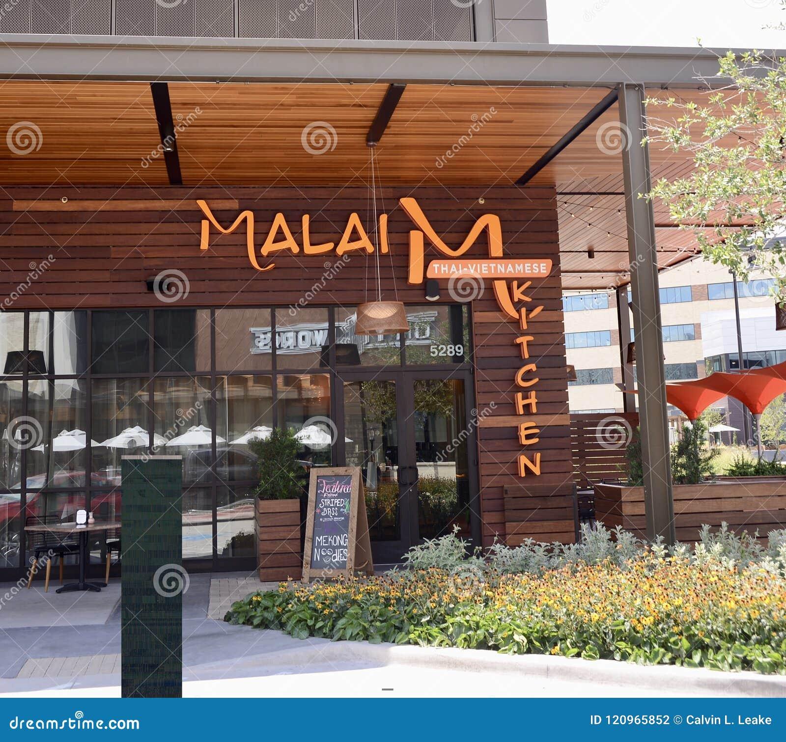 Malai Thai Vietnamese Kitchen Fort Worth Texas Editorial