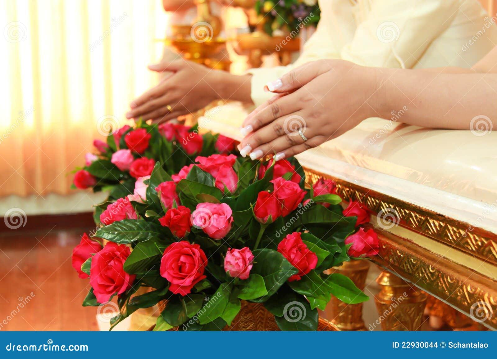 Thai Wedding Ceremony Stock Images
