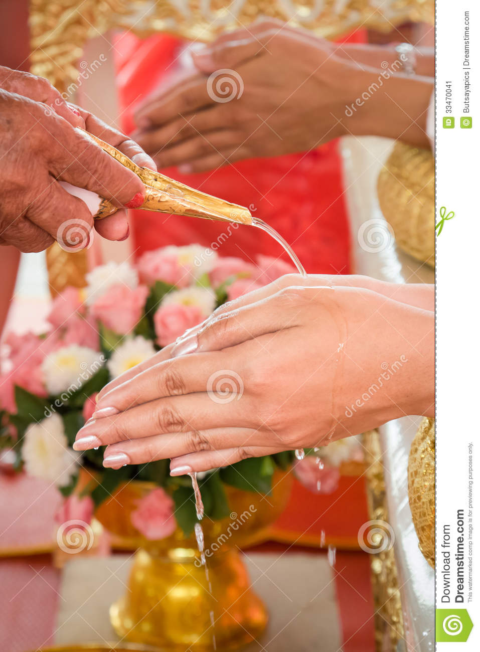 stock images bride price money thai wedding ceremony image