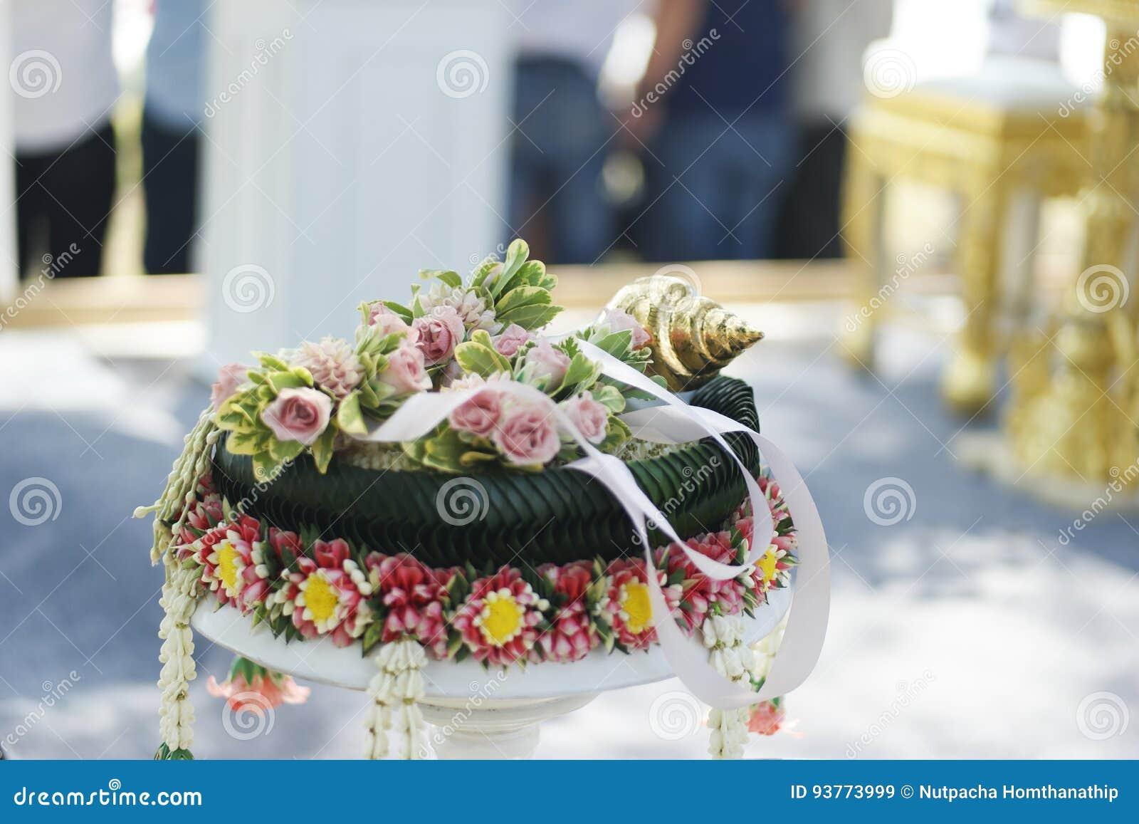 Thai Wedding Theme Stock Image Image Of Human Hand 93773999