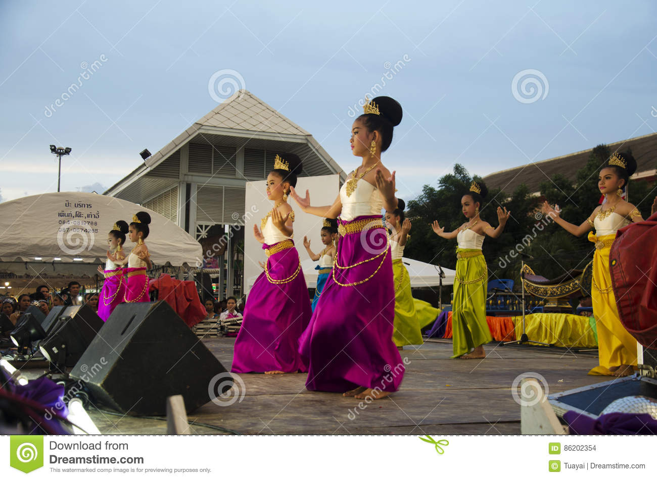 fd3dbd586 Thai women dancer dancing thai style for show people in traditional culture  thai festival