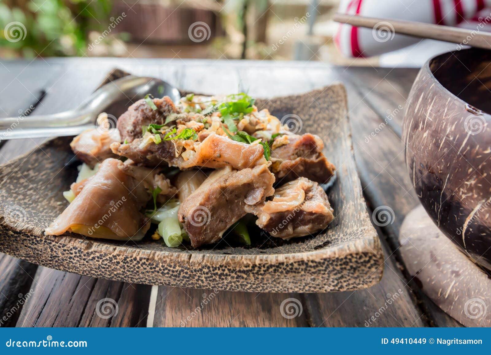 Download Thailändische Art Der Würzigen Suppe Der Schweinefleischnudel, Tom Yum Stockbild - Bild von frühstück, feinschmecker: 49410449