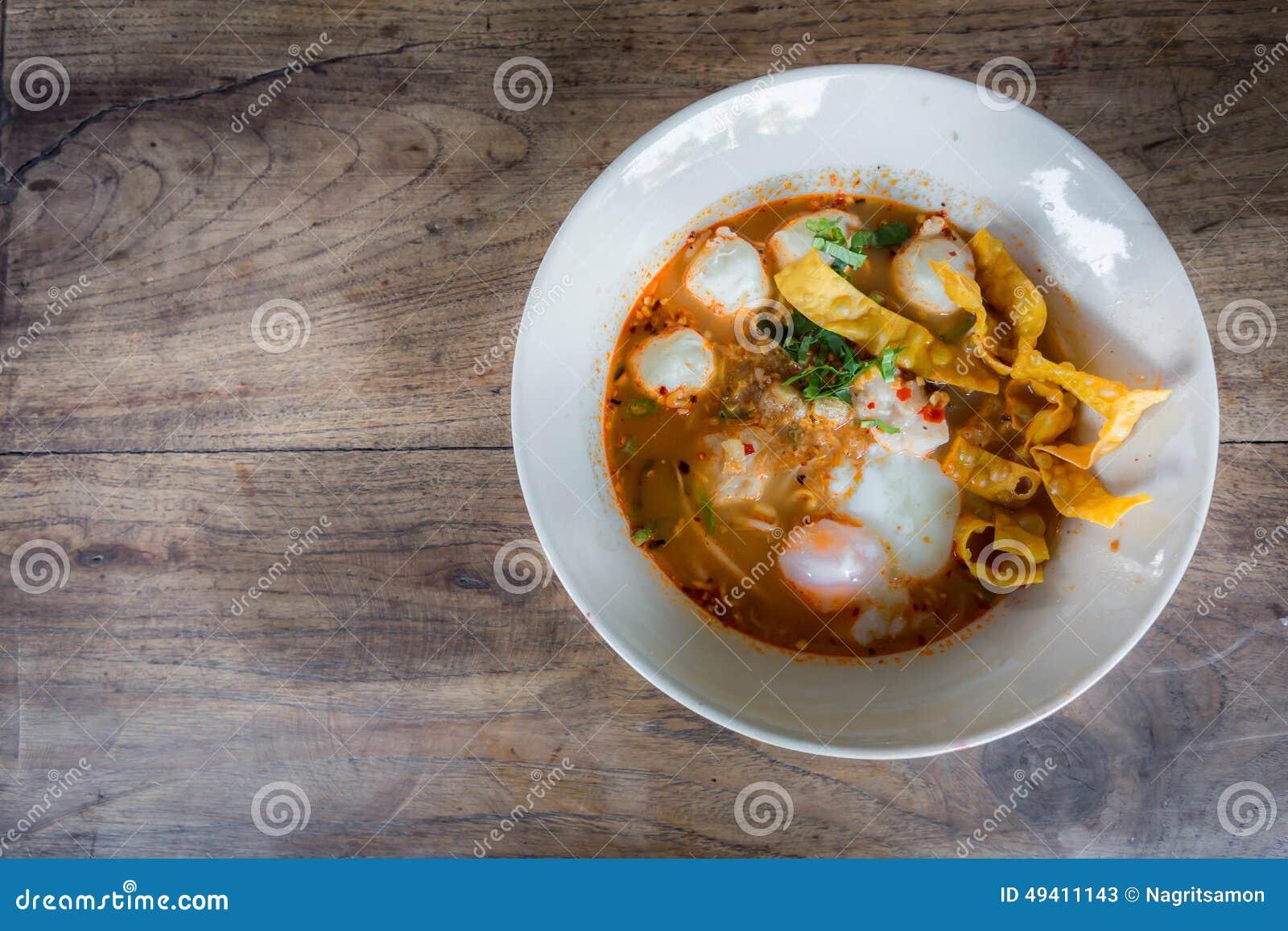 Download Thailändische Art Der Würzigen Suppe Der Schweinefleischnudel, Tom Yum Stockbild - Bild von kochen, cuisine: 49411143