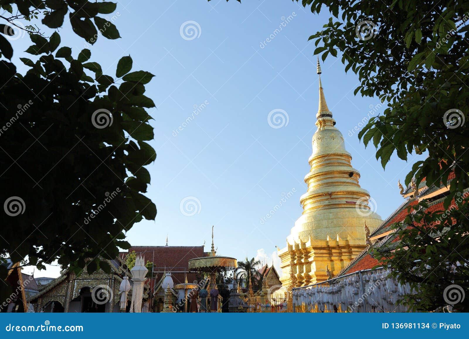 Thailändische Pagode in Lamphun Thailand