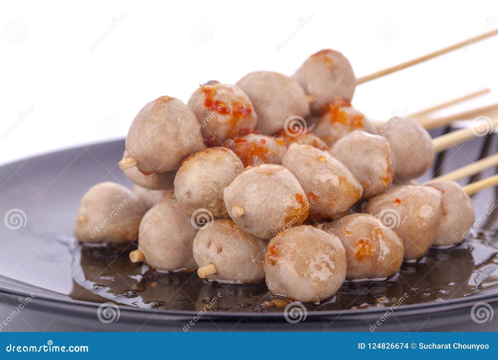 Thailändischer Fleischball und würzige Soße