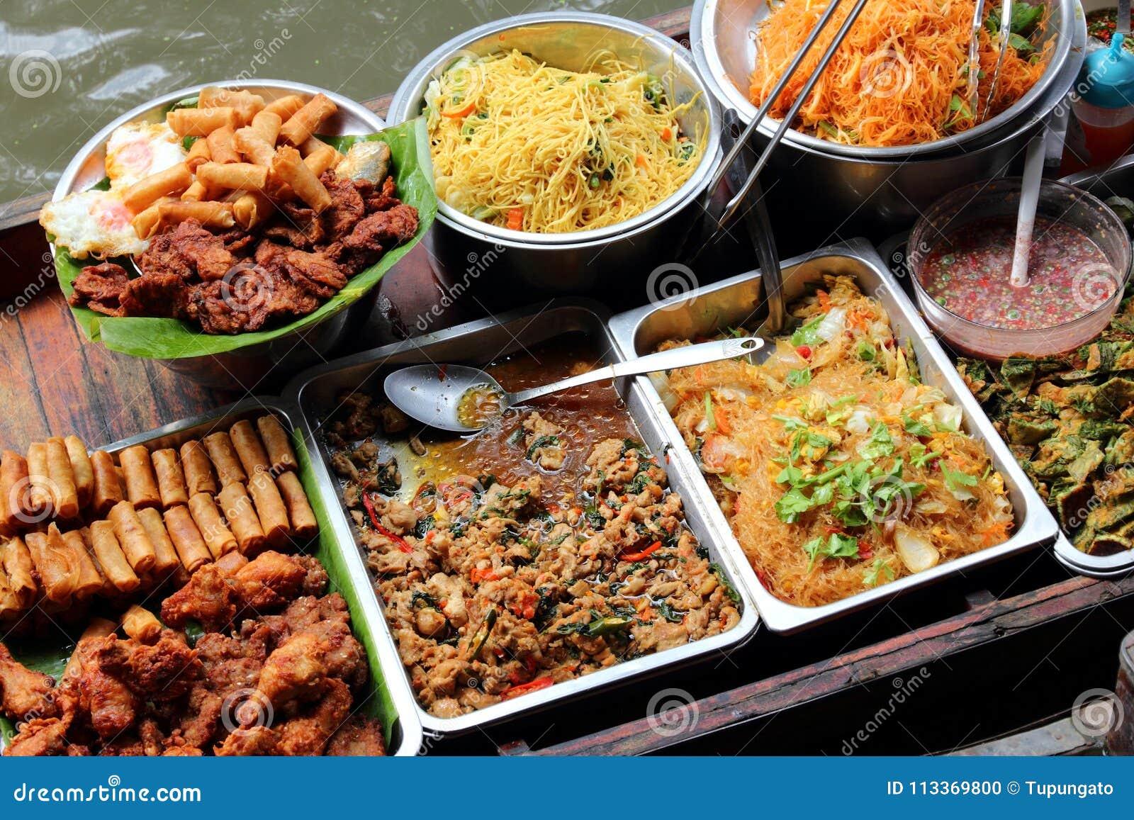 Thailändischer Lebensmittelverkäufer