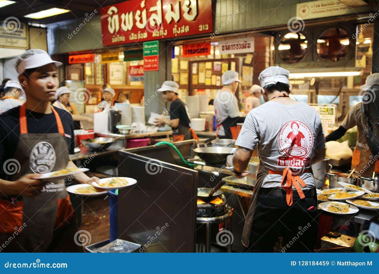 Thailändisches Restaurant der Auflage in Bangkok