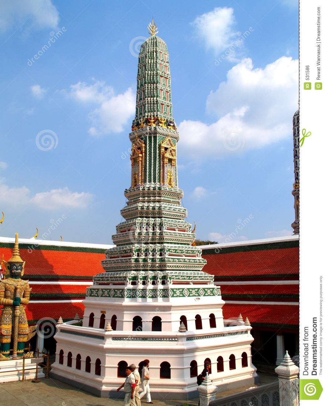 Thailand architecture style 05 royalty free stock image for Wat architecture