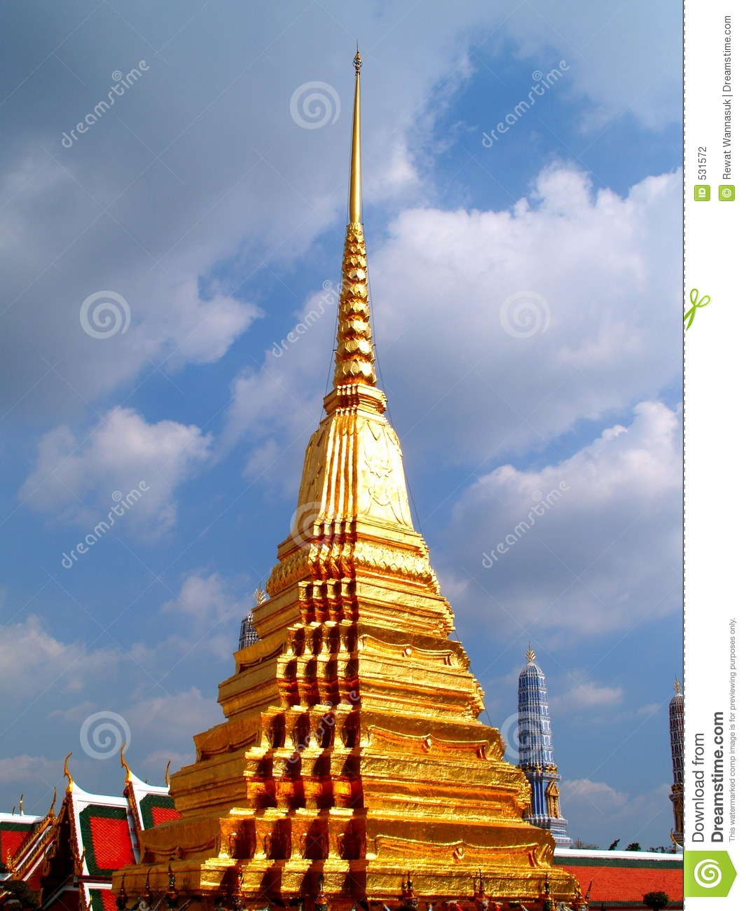 Thailand architecture style 07 stock photography image for Wat architecture