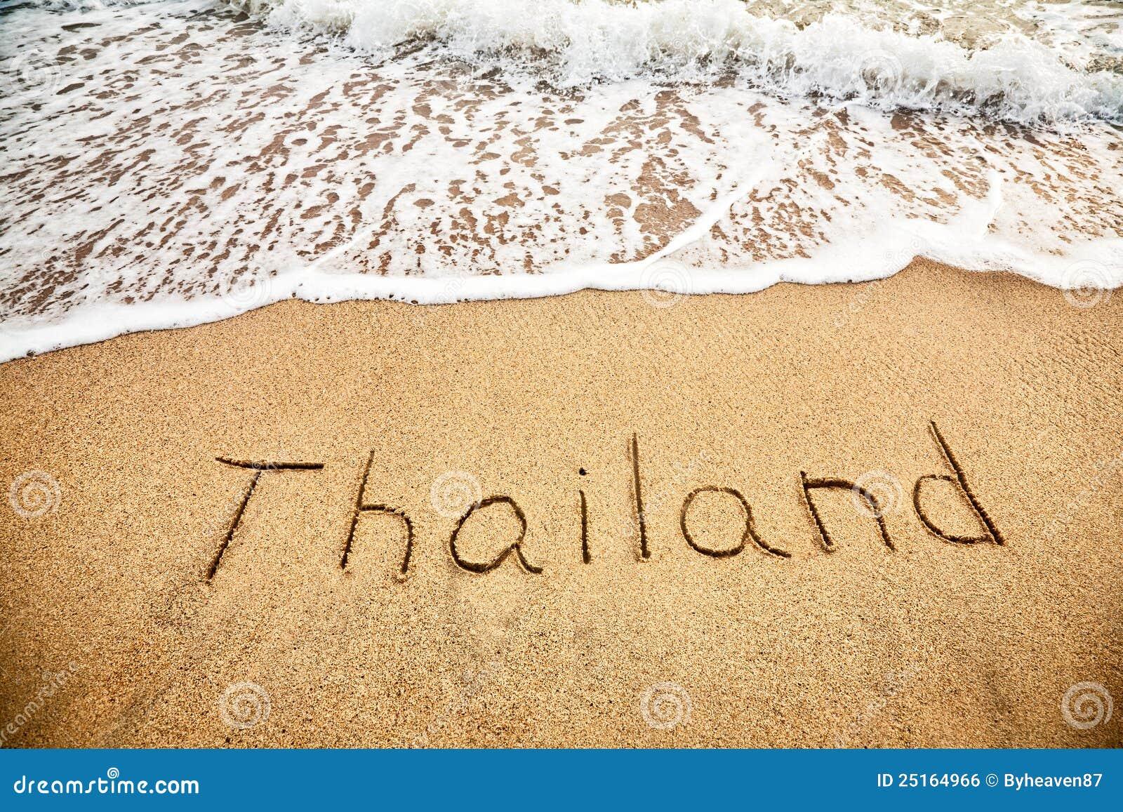 Thailand auf dem Sand