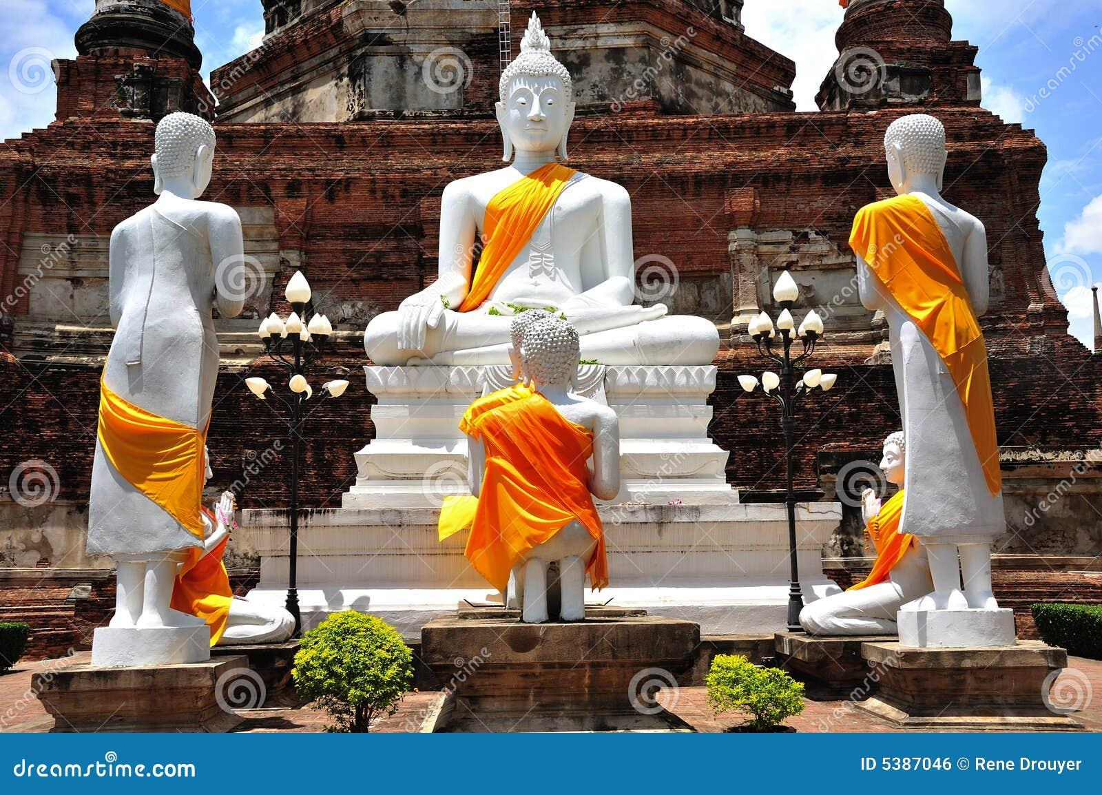 Thailand Ayutthaya Wat Yai Chai Mongkhon Royalty Free Stock Image - Image: 53...