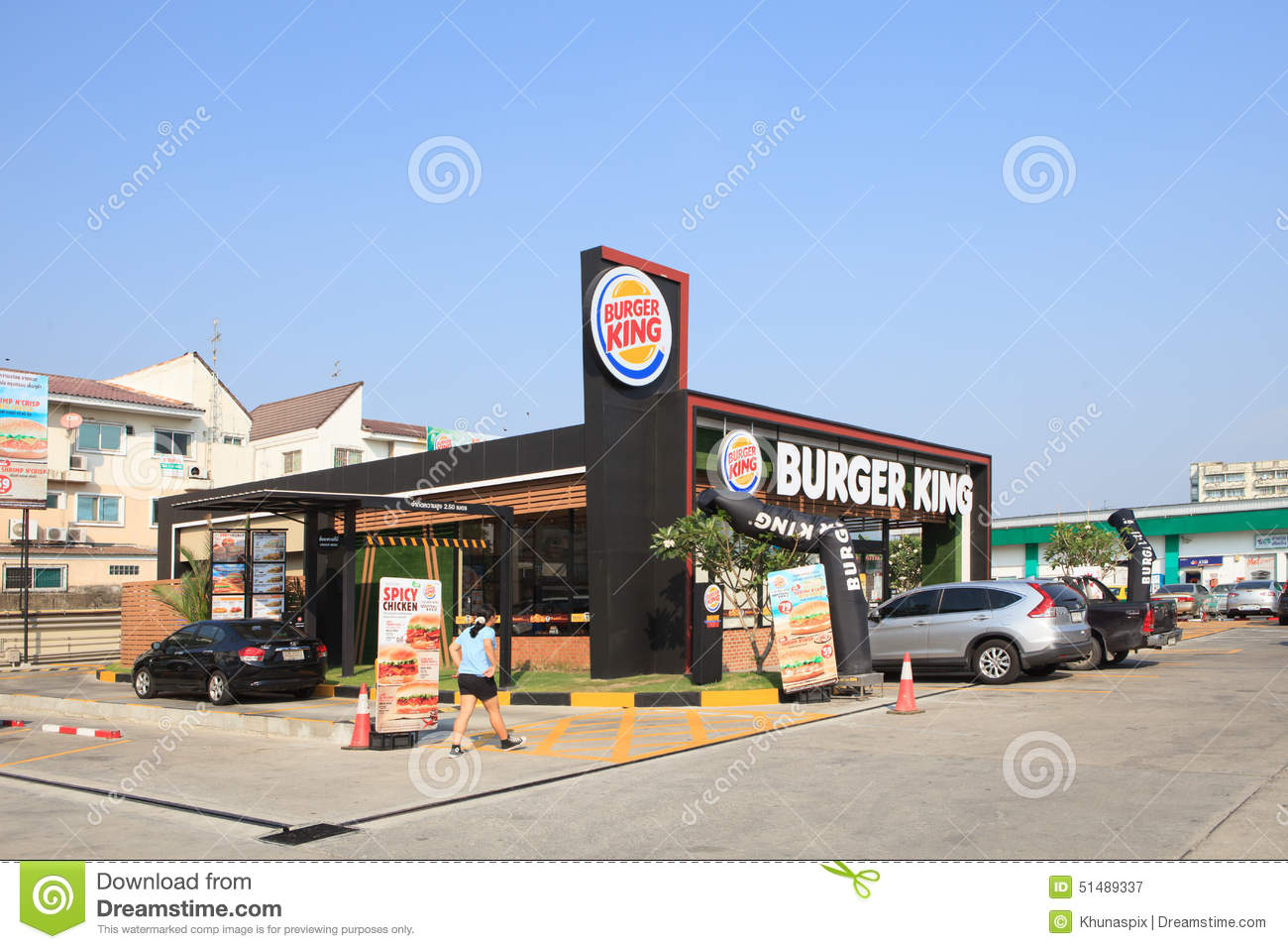 Thailand bangkok mar16 new burger king fast food for Fast food restaurants open on christmas day