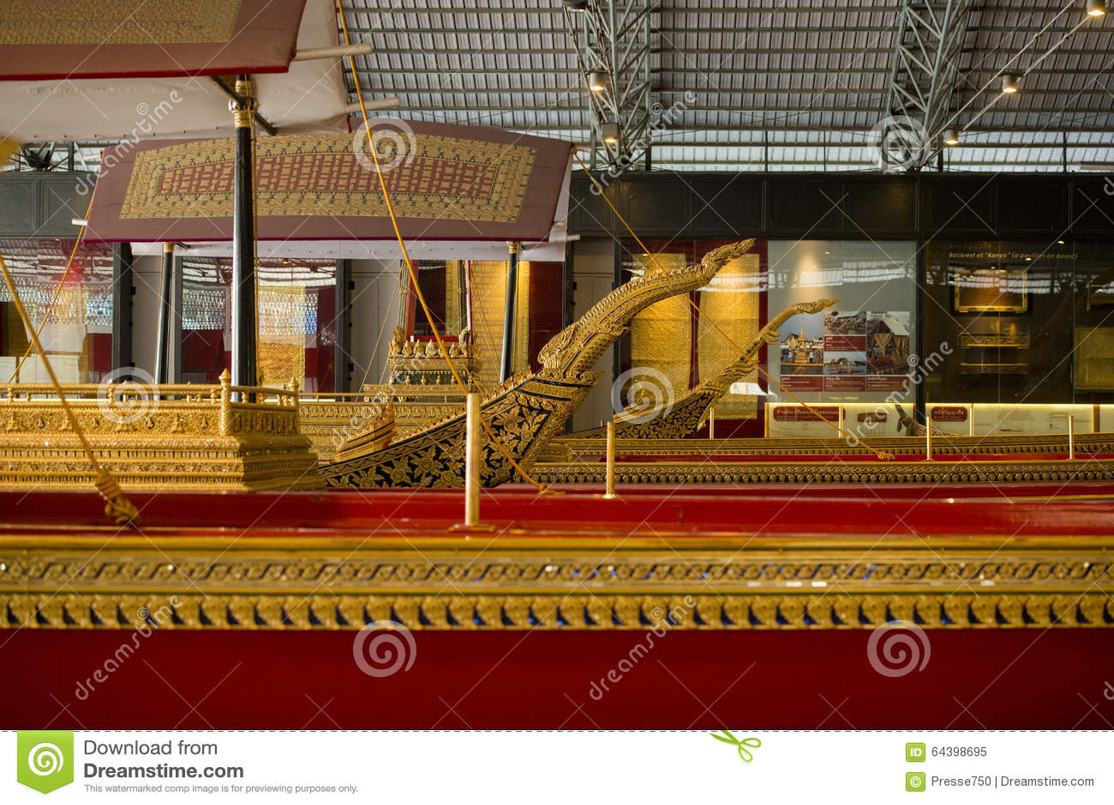 THAILAND BANGKOK ROYAL BARGES NATIONAL MUSEUM Editorial Image - Image: 64398695