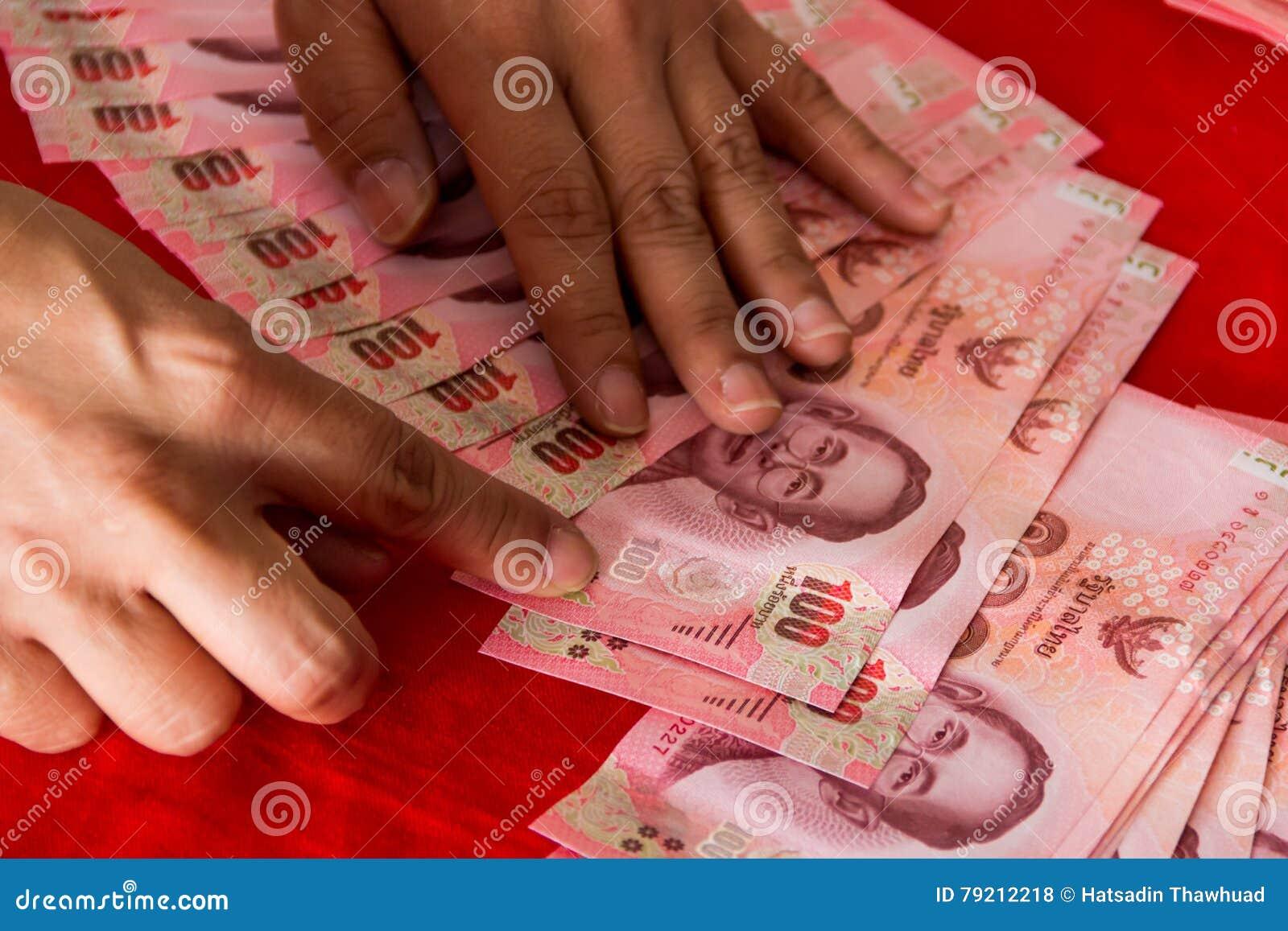 Thailand Banknoten Verzieren Fur Hochzeitszeremonie In Der