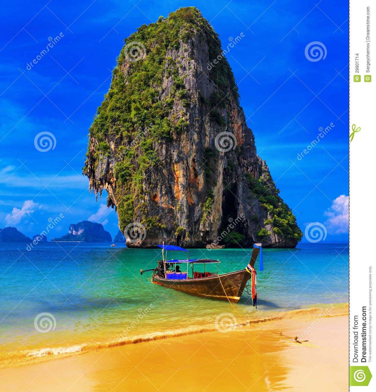 Exotic Beach: Thailand Exotic Tropical Beach Stock Photo