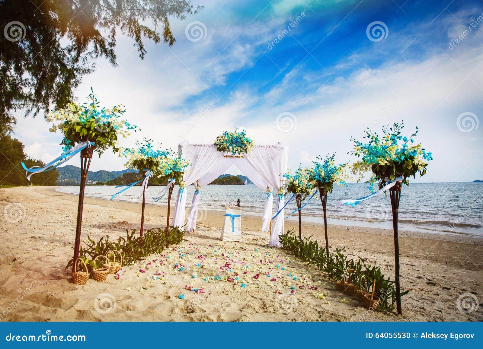 Thailand Hochzeit Stockfoto Bild Von Blumen Schon Sonne 64055530
