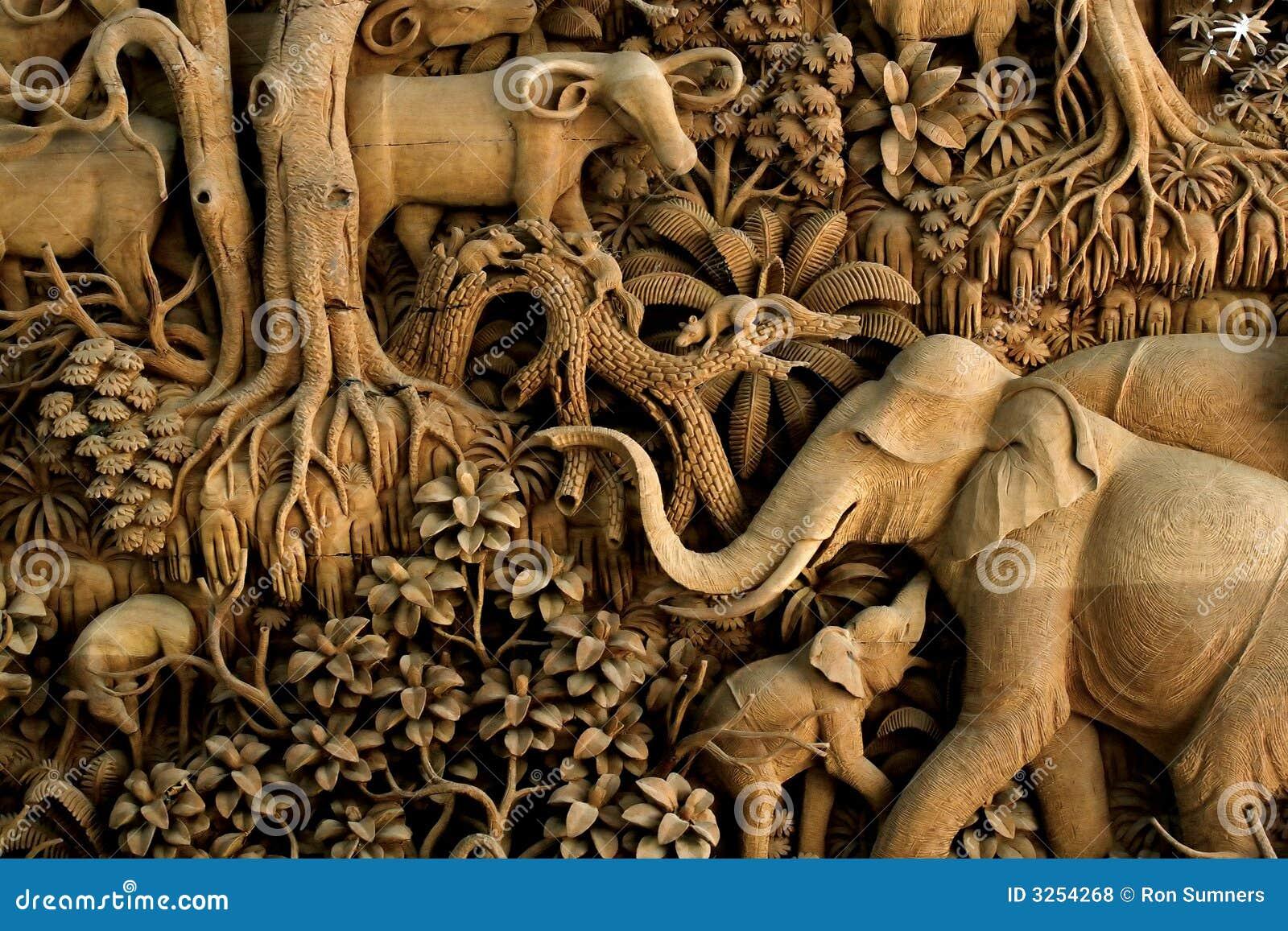 Thailand-Holzschnitzen