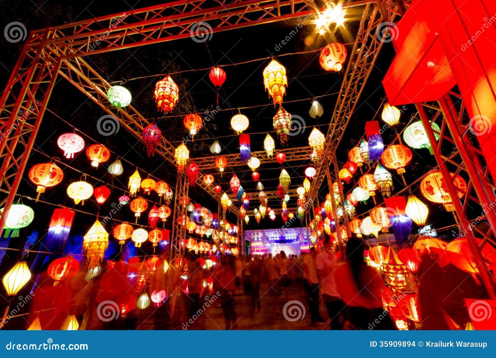 Thailand international lantern festival editorial stock for Charoen decor international thailand