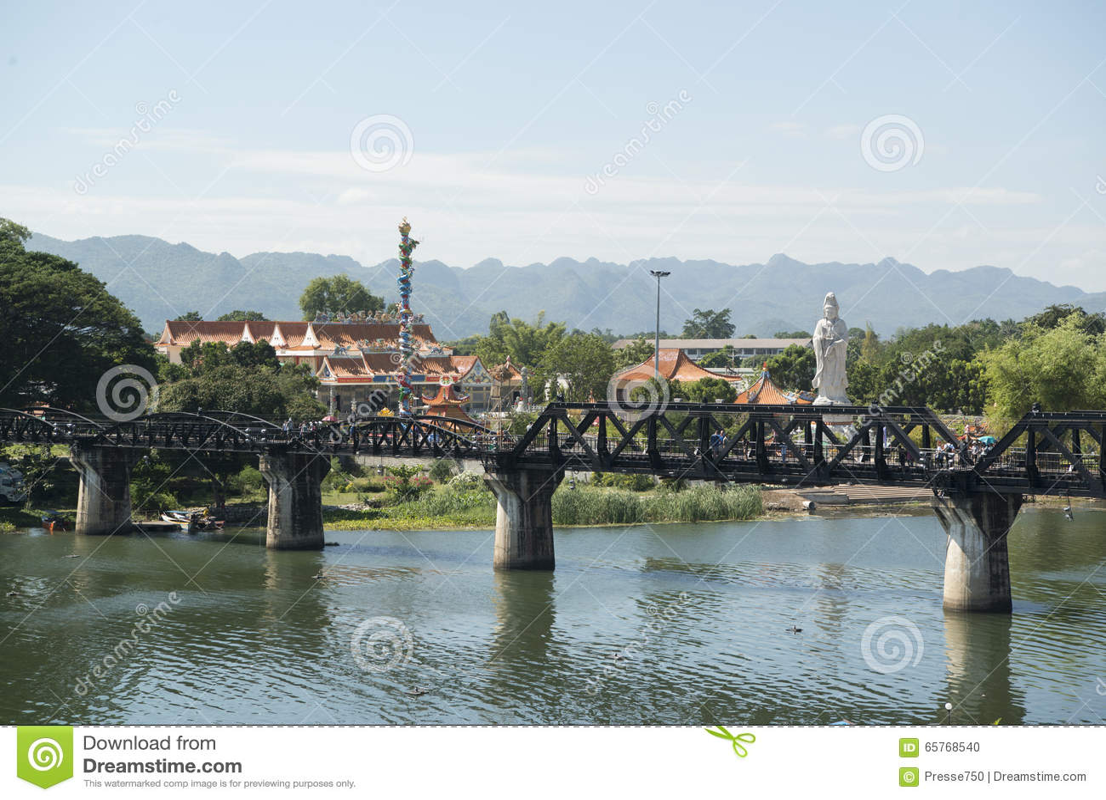 THAILAND KANCHANABURI DEATH RAILWAY BRIDGE RIVER KWAI