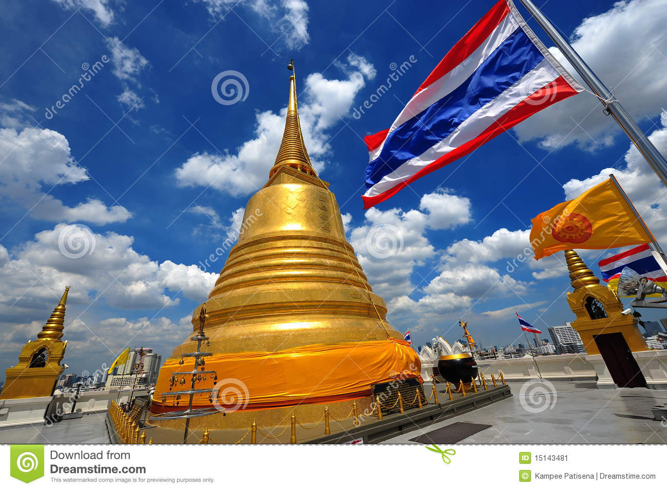 Thailand Landmark Golden Mount (wat Sraket) B Stock Image ...