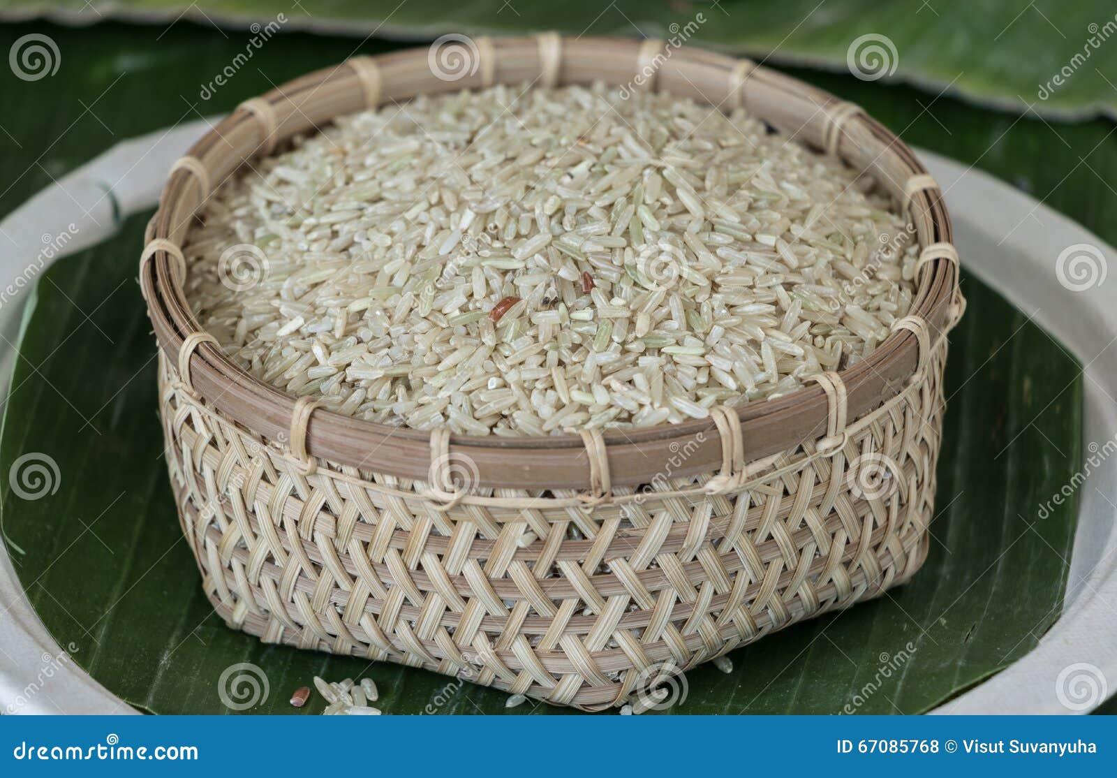 In Thailand Like White Glutinous Rice. Stock Photo - Image ...