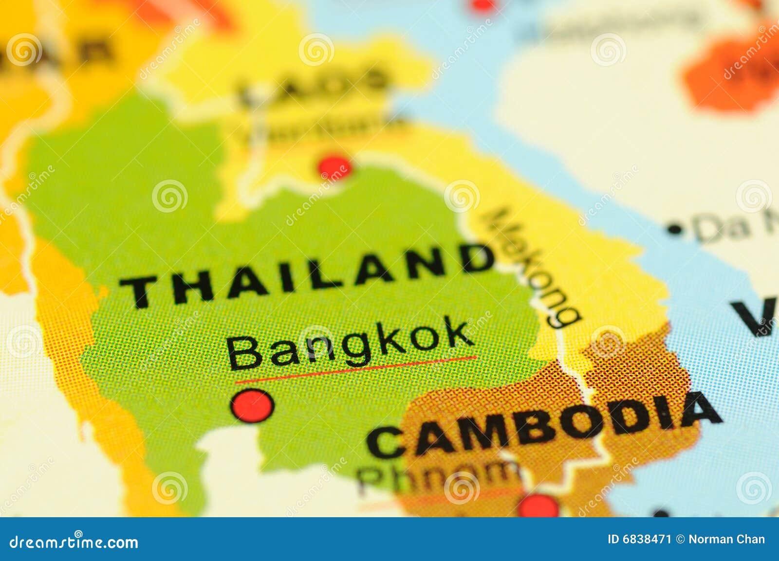 Thailand op kaart
