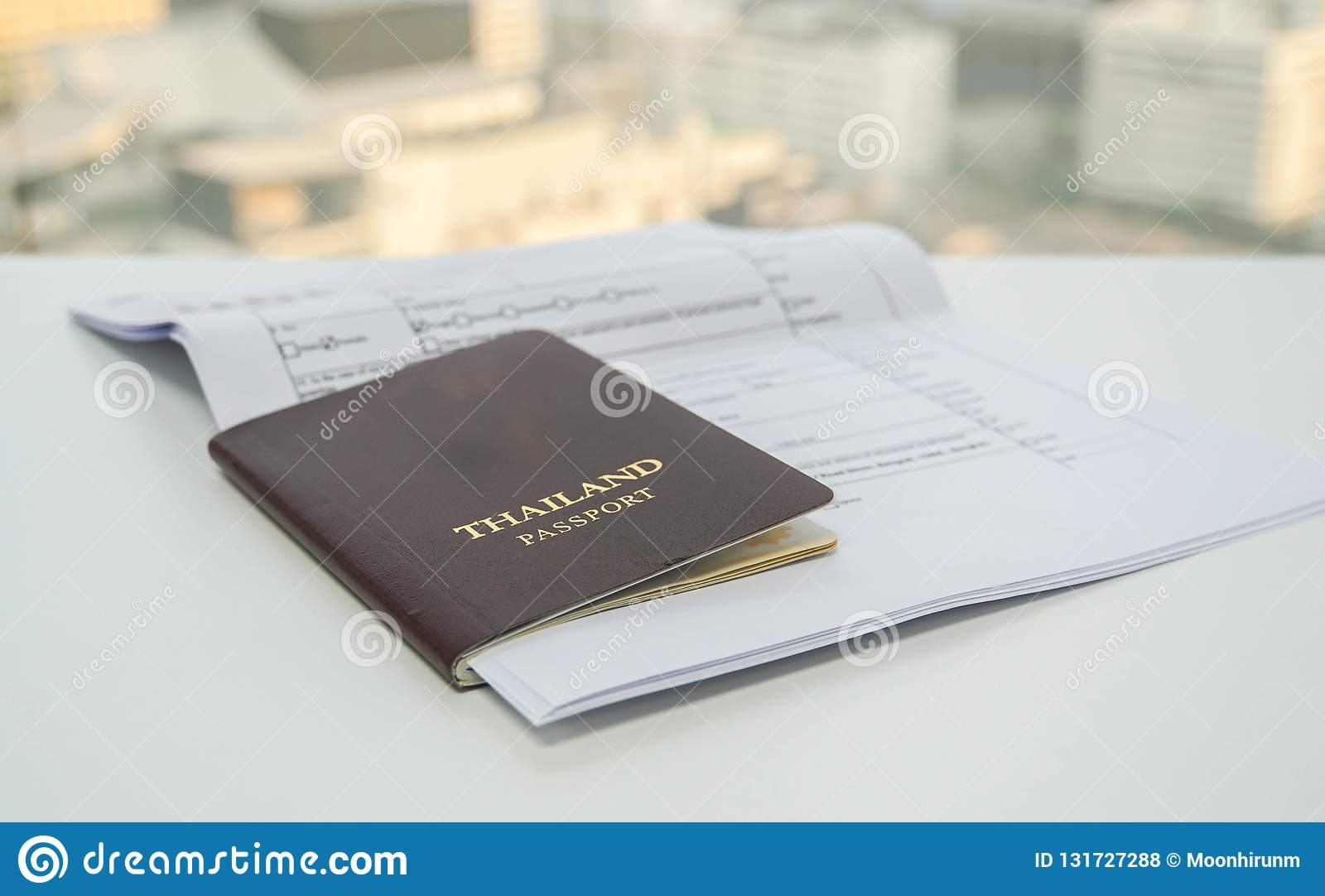 Thailand Passport With Necessary Documents Apply For Visa