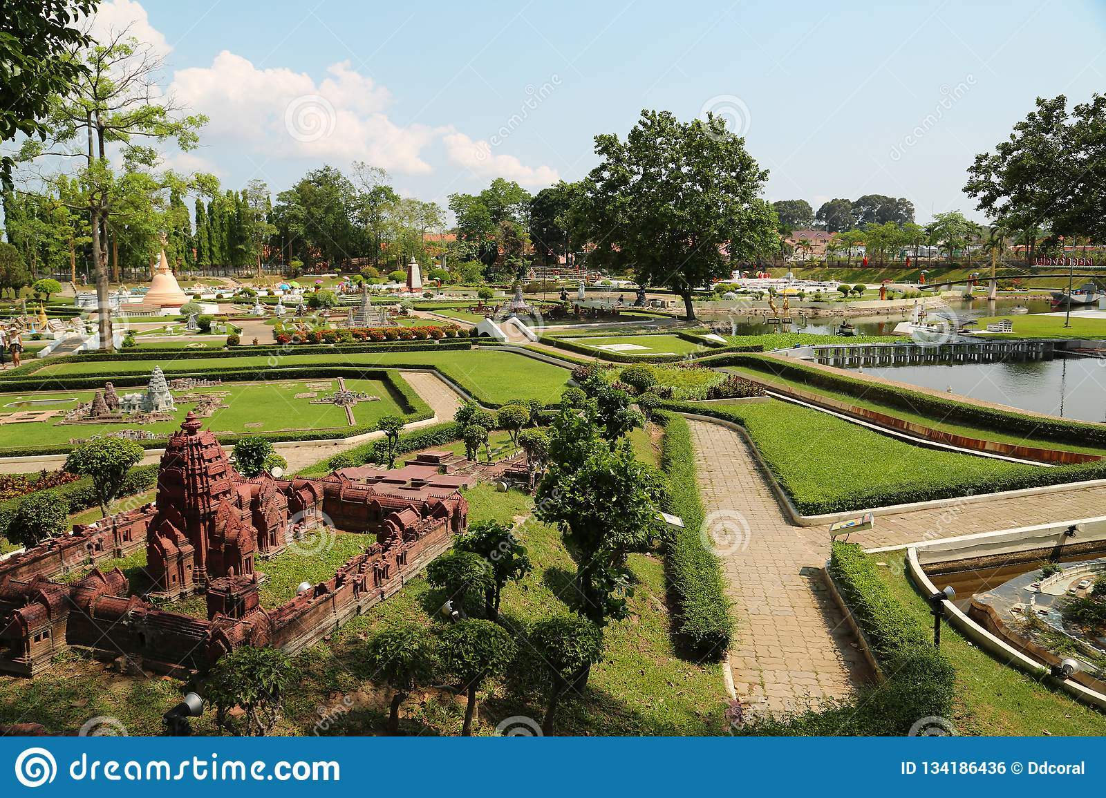Models of world attractions in Mini Siam park in Pattaya, Thailand