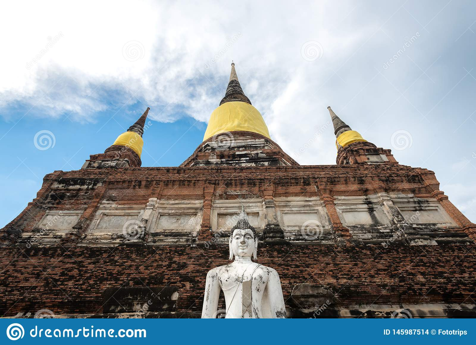 Thailand`s Temple - Old pagoda at Wat Yai Chai Mongkhon, Ayutthaya Historical Park, Thailand