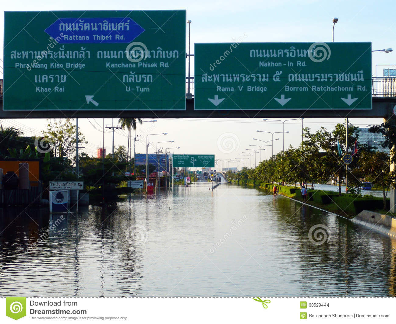 Thailand s Worst Flood Crisis at Nonthaburi