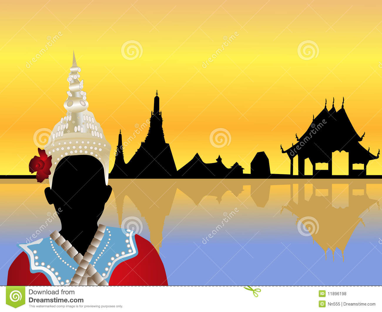 thailand scenery vector royalty free stock photos image