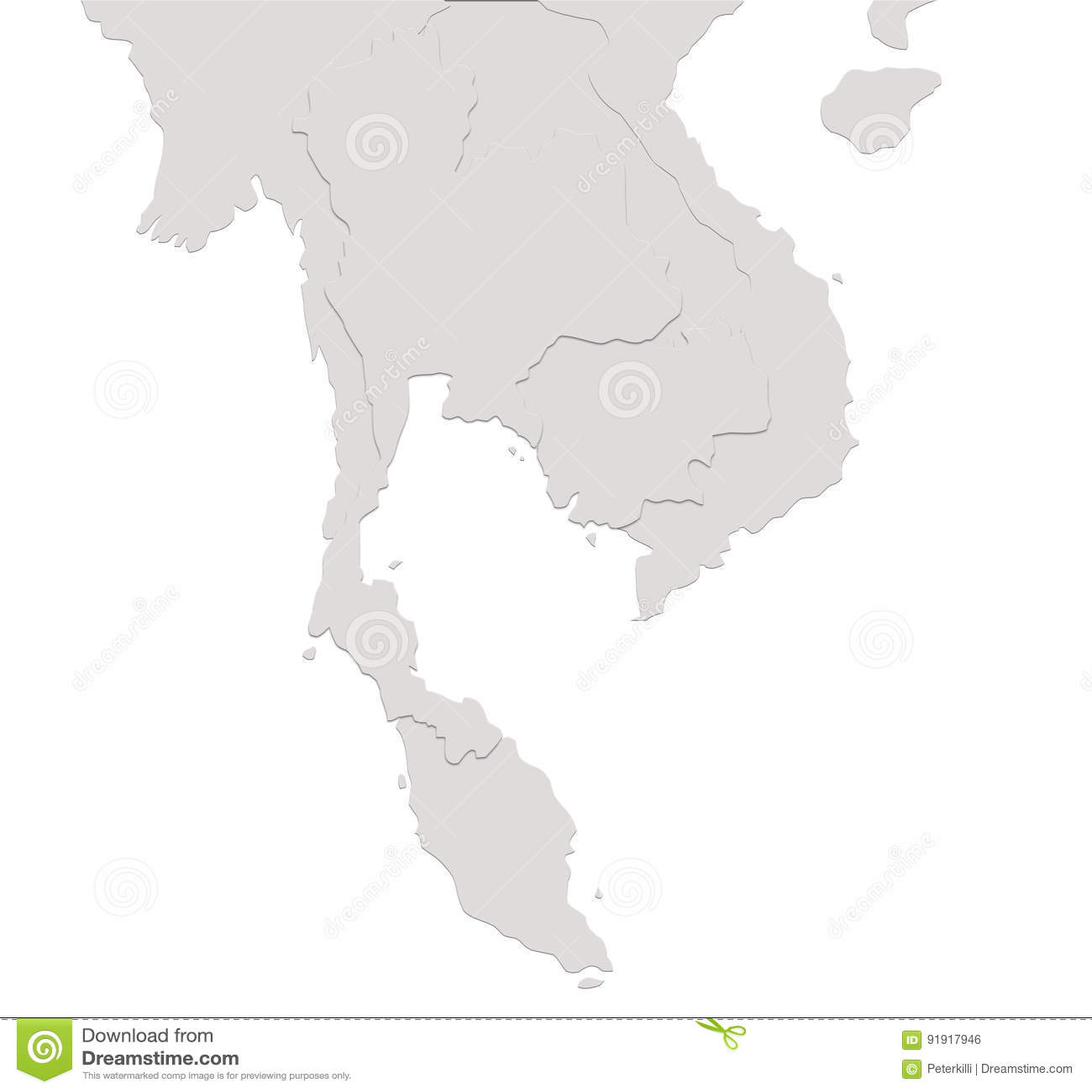 Thailand Singapore Vietnam China Malaysia Cambodia Lao Burma Map