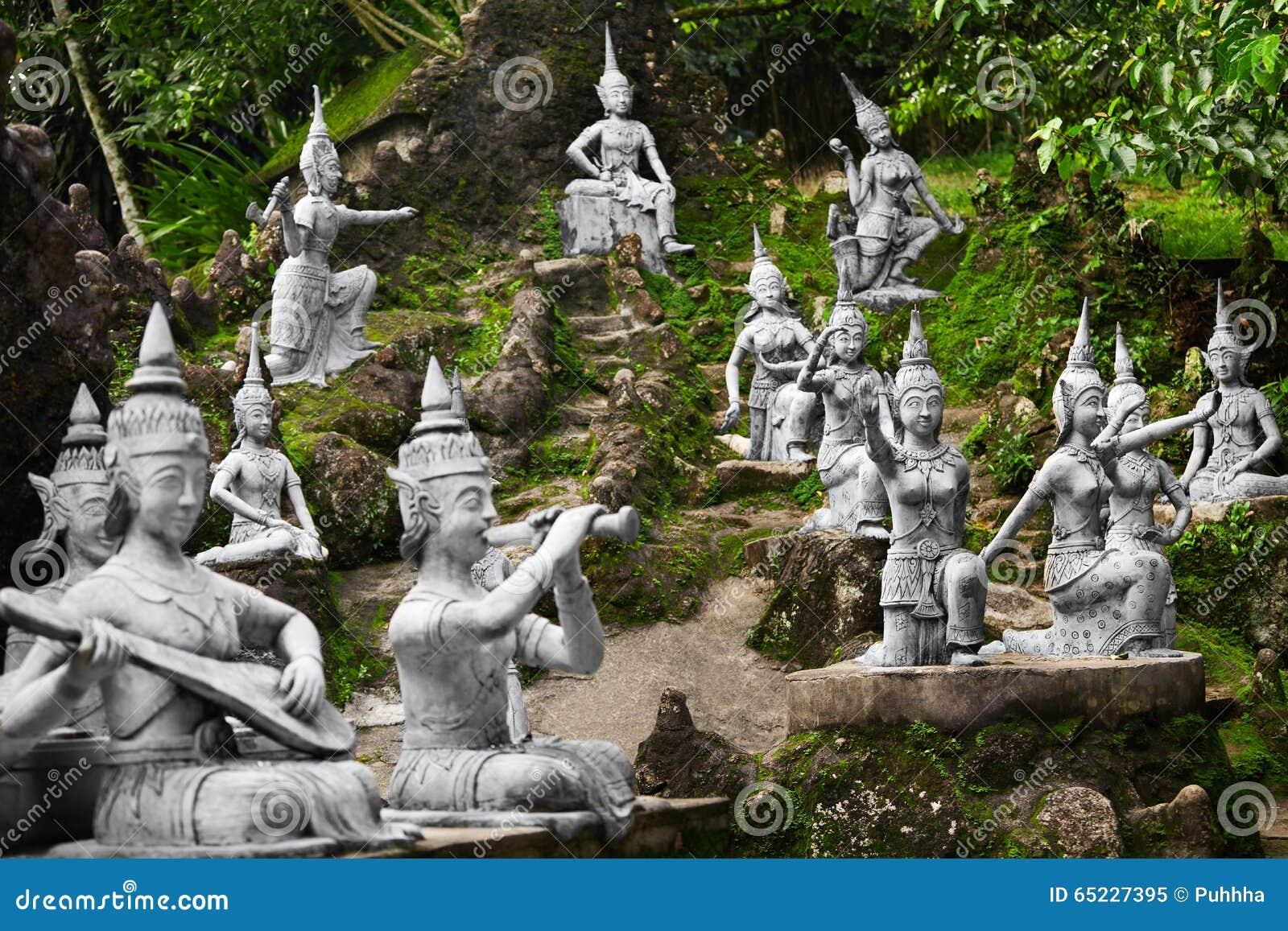Thailand Statue segrete magiche del giardino di Buddha in Samui Viaggio, T