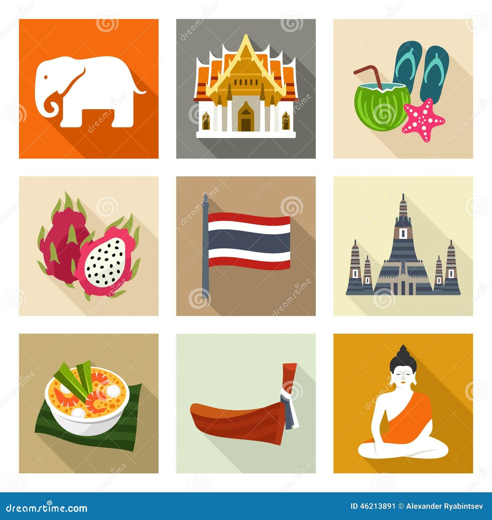 Thailand symbolsuppsättning