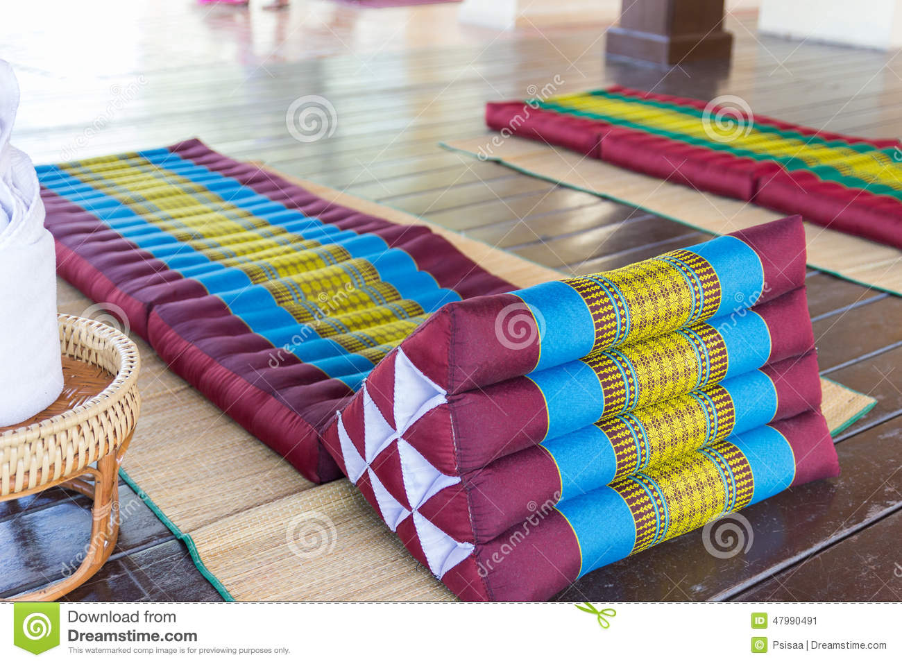 Thailand Traditional Mattress For Spa Massage Stock Image ...