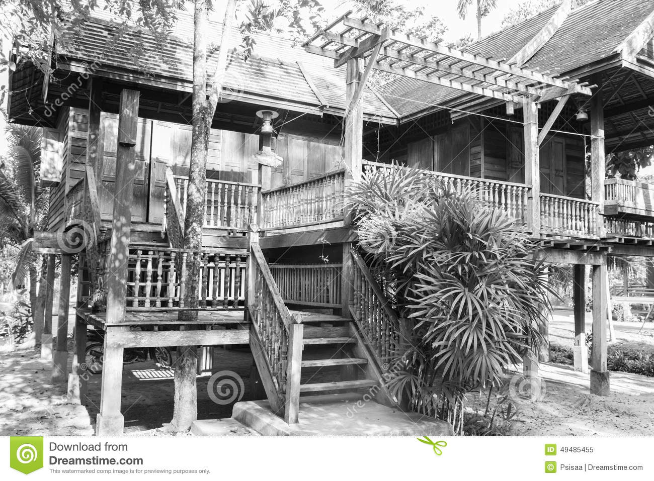 Thailand Traditional Old Wooden House