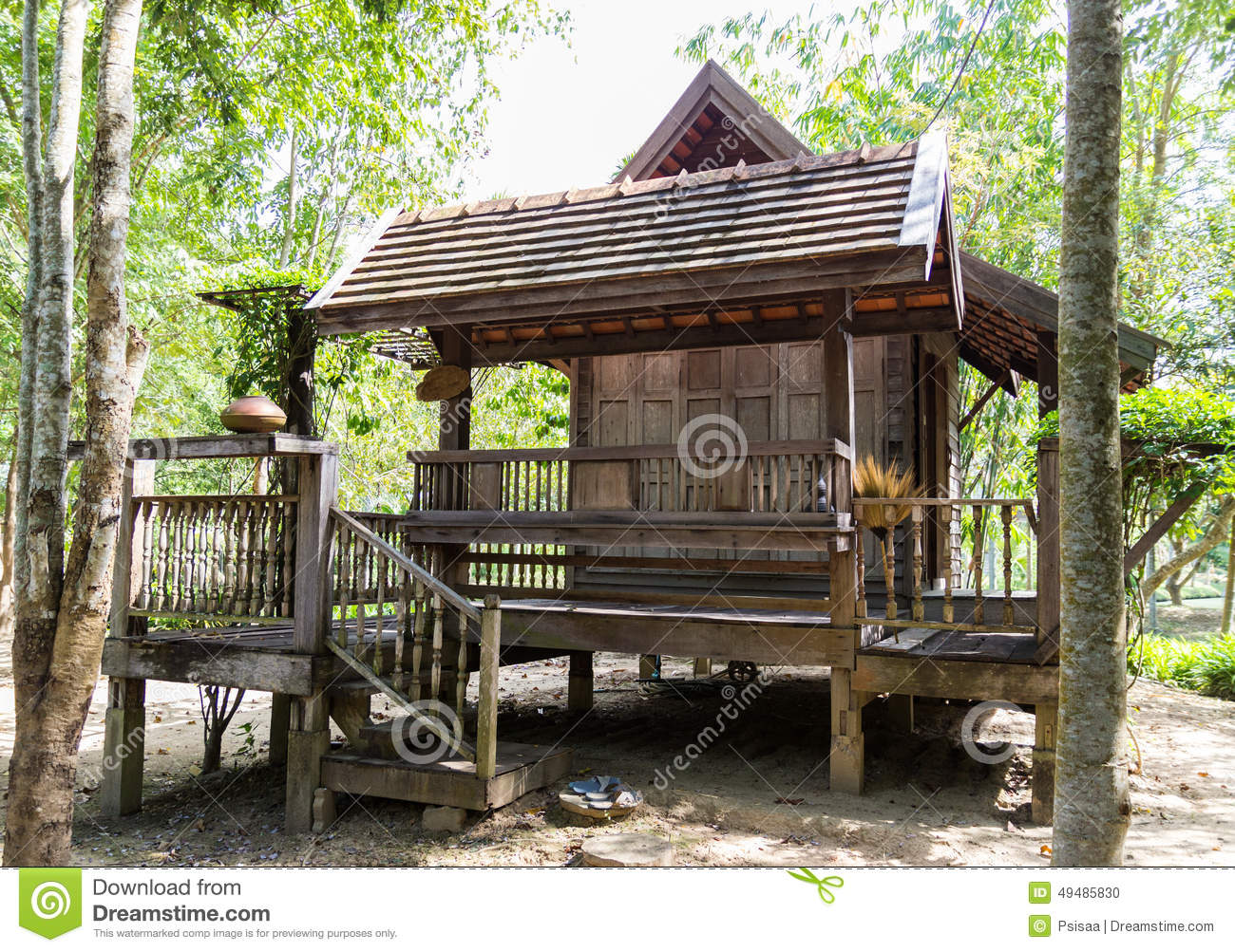 House design thailand - Royalty Free Stock Photo Download Thailand Traditional Old Wooden House